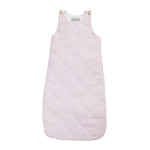 Louelle Sleeping Bag- Dusty Pink Gingham