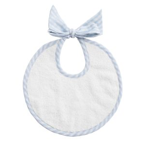 Louelle Baby Bib in Blue Gingham