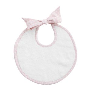 Louelle Baby Bib in Dusty Pink Gingham