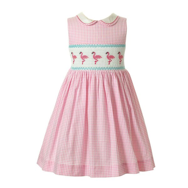 Rachel Riley Baby/Toddler/Big Kid Flamingo Smocked Dress