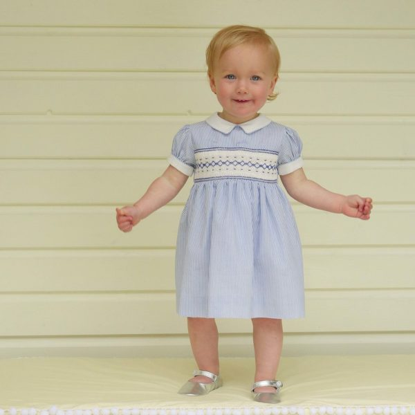Rachel Riley Baby/Toddler Striped Smock Dress & Bloomer
