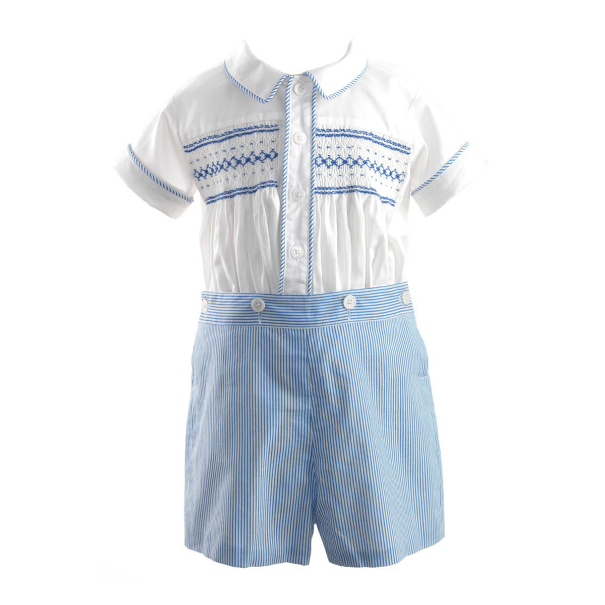Rachel Riley Baby/Toddler Striped Smocked Set