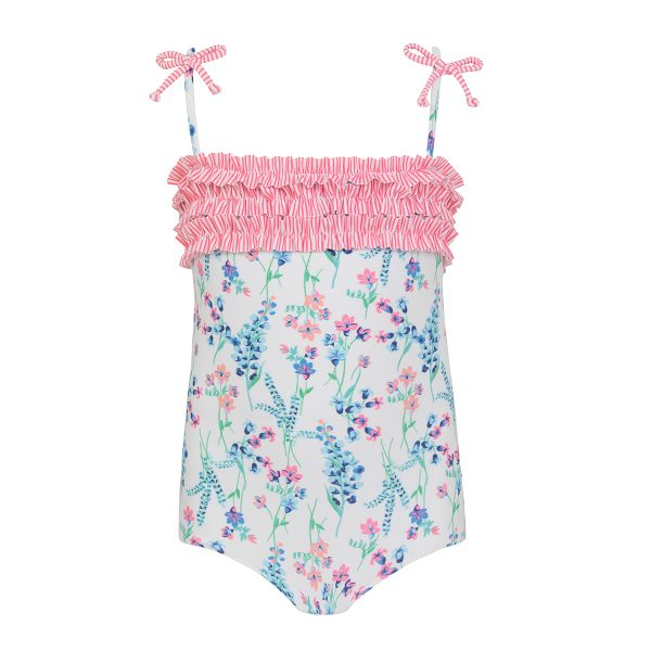 Sunuva Baby Pink Cherries Frill Swimsuit