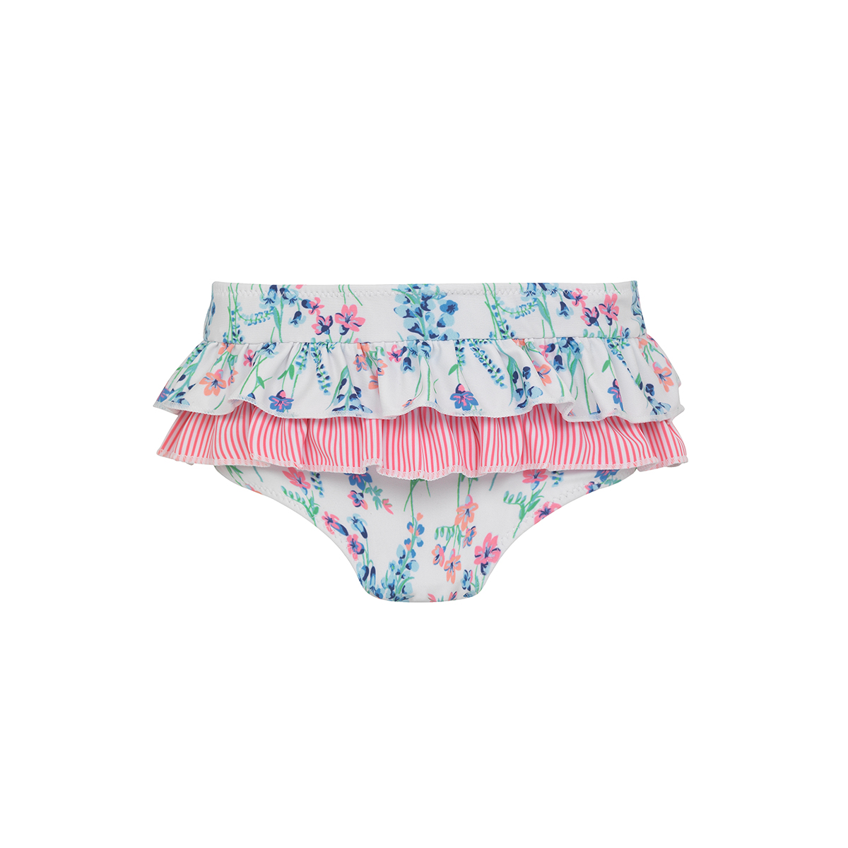 Sunuva Baby White English Floral Frill Nappy Pant