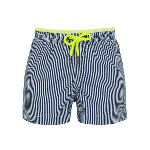 Sunuva Baby/Toddler/Big Kid Navy Stripe Swim Short