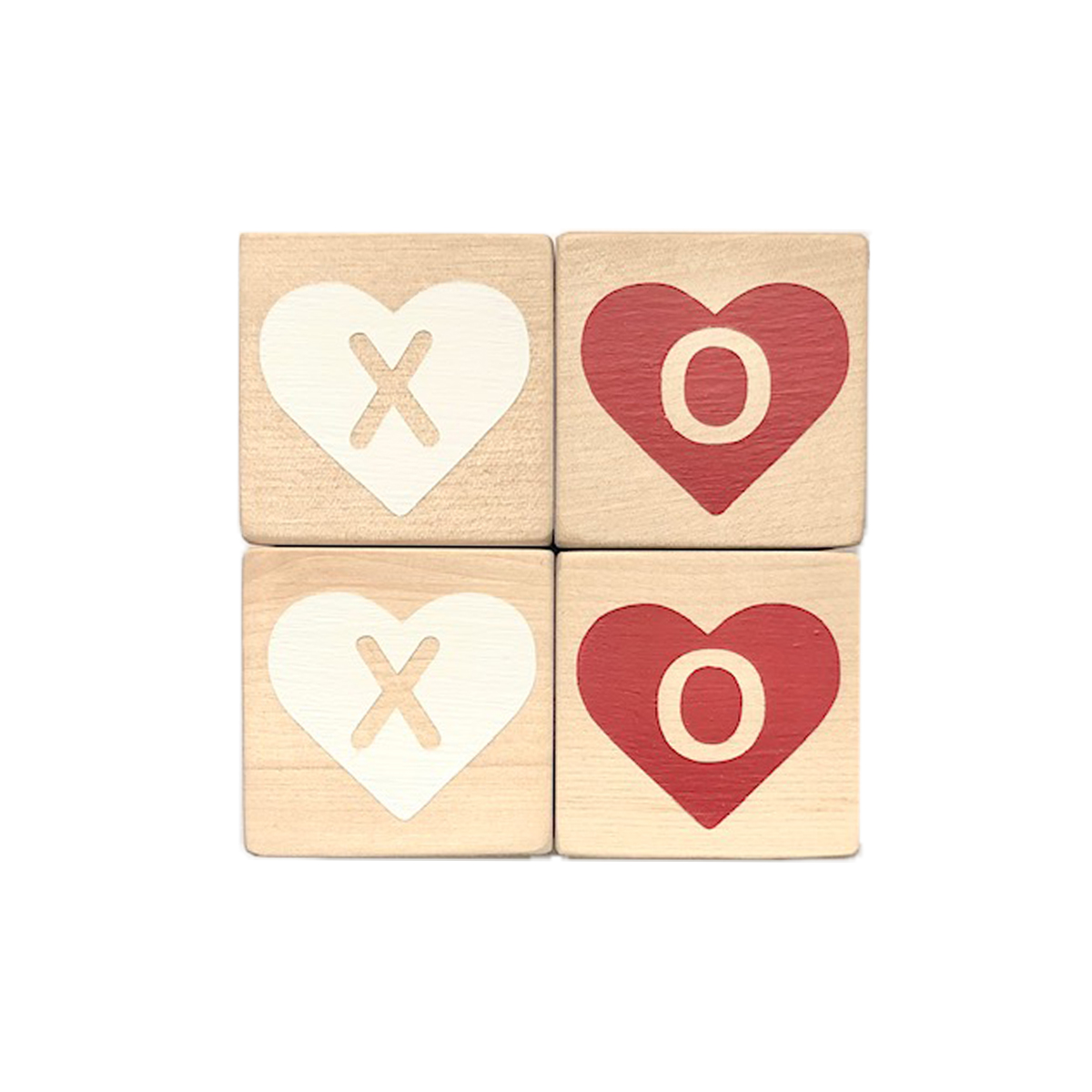 Modern Blocks Hearts Xoxo Block Set of 4