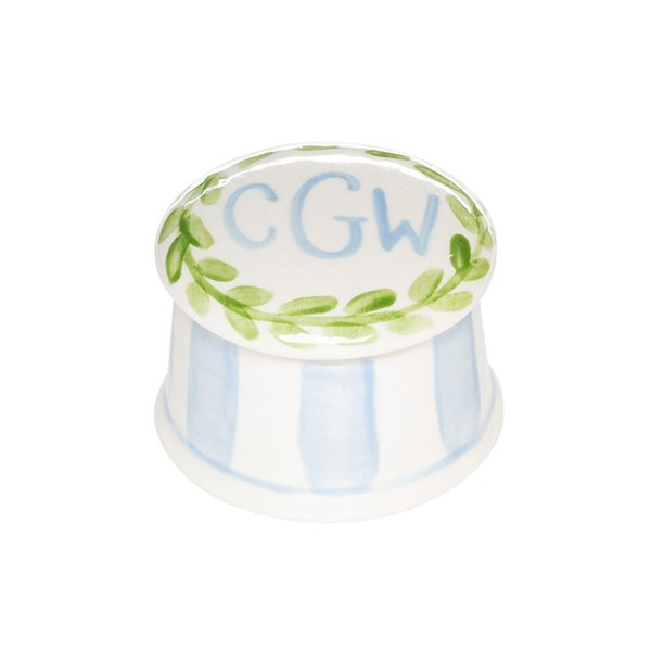 Caroline & Co Round Ring Box – Blue