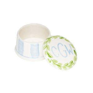 Caroline & Co Round Ring Box - Blue