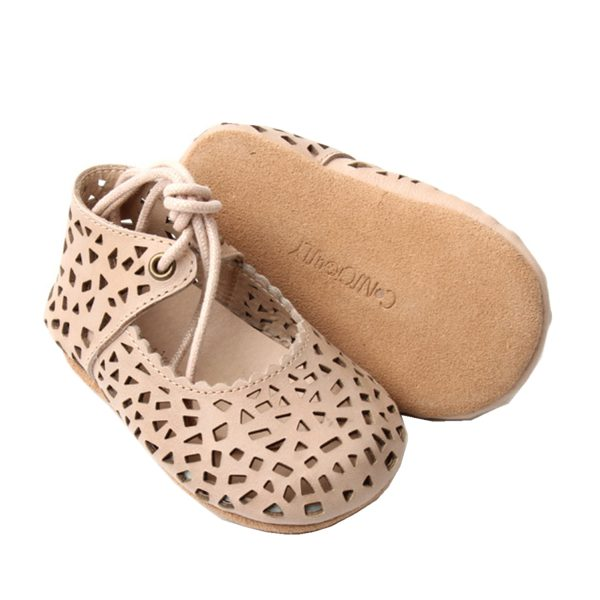 Consciously Baby Mary Jane Oatmeal Soft Sole