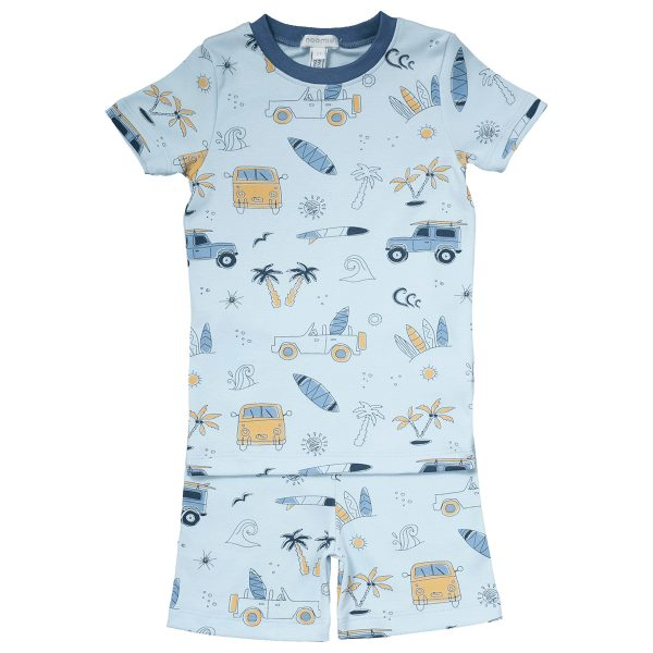 Baby Noomie Two Piece PJ Short Sleeve/Shorts – Surf