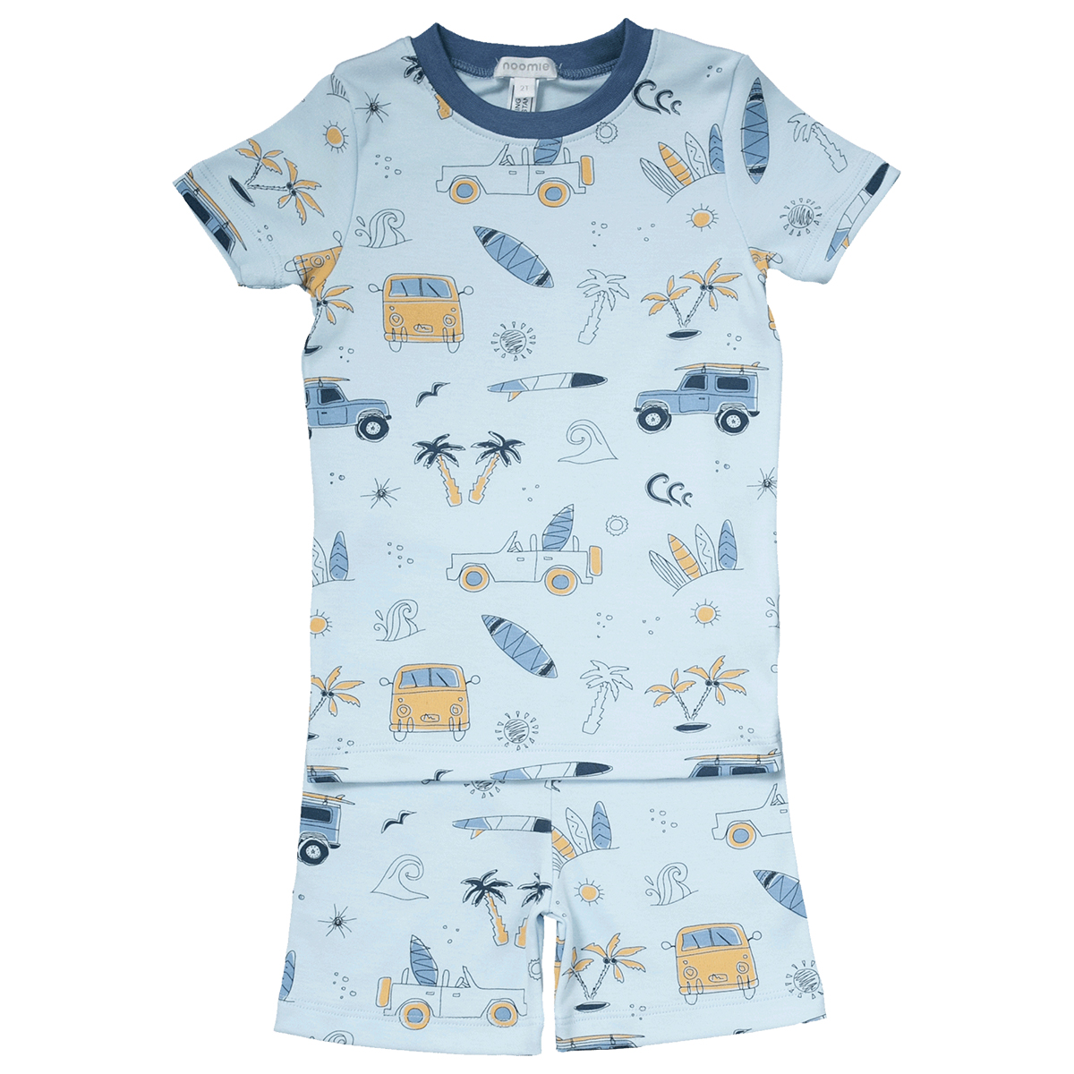 Baby Noomie Two Piece PJ Short Sleeve/Shorts - Surf