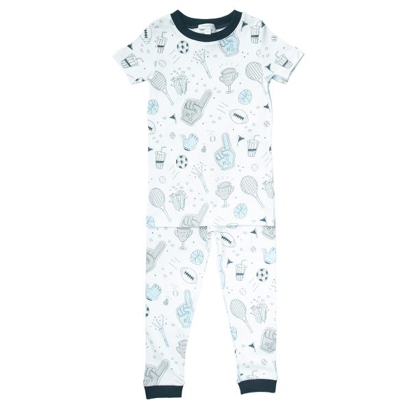 Baby Noomie Two Piece PJ Short Sleeve/Pants – Sports