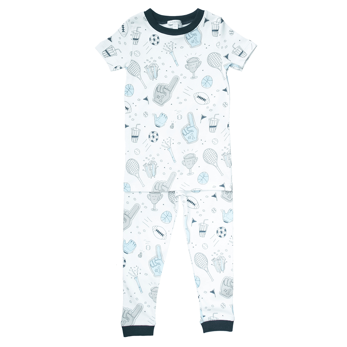 Baby Noomie Two Piece PJ Short Sleeve/Pants - Sports
