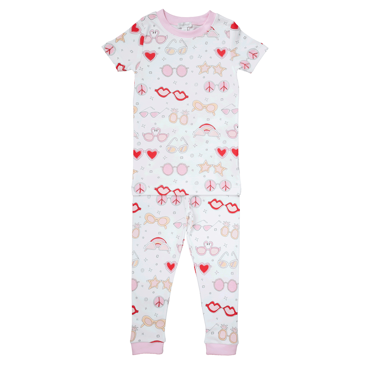 Baby Noomie Two Piece PJ Short Sleeves/Pants Set- Pink Shades