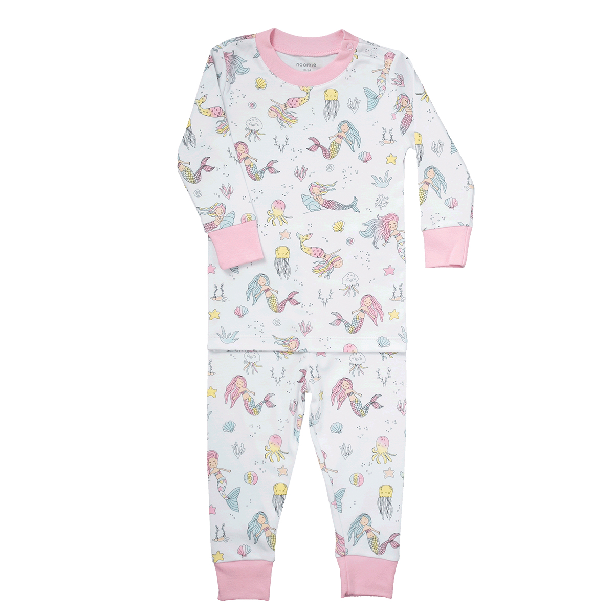 Baby Noomie Two Piece PJ Set- Mermaid