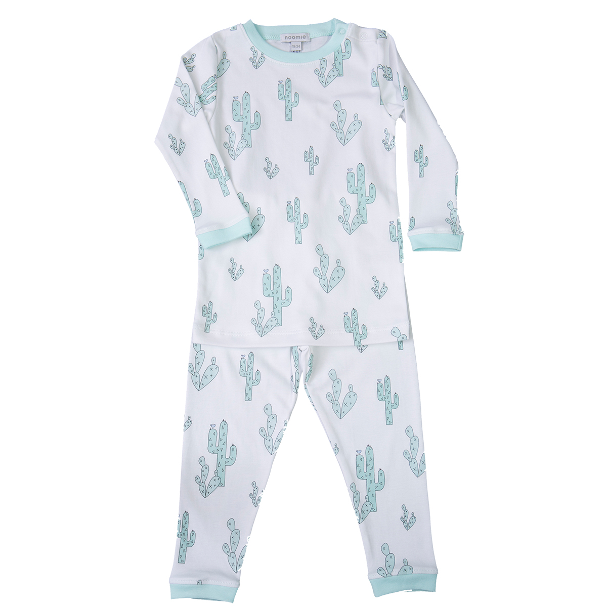 Baby Noomie Two Piece PJ - Green Cactus