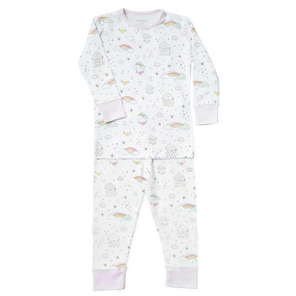 Baby Noomie Two Piece PJ – Rainbows