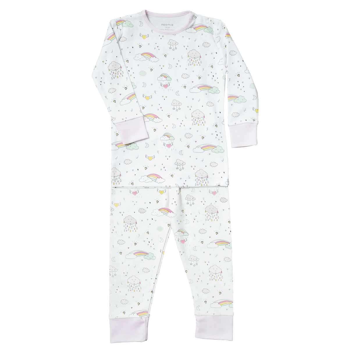 Baby Noomie Two Piece PJ - Rainbows