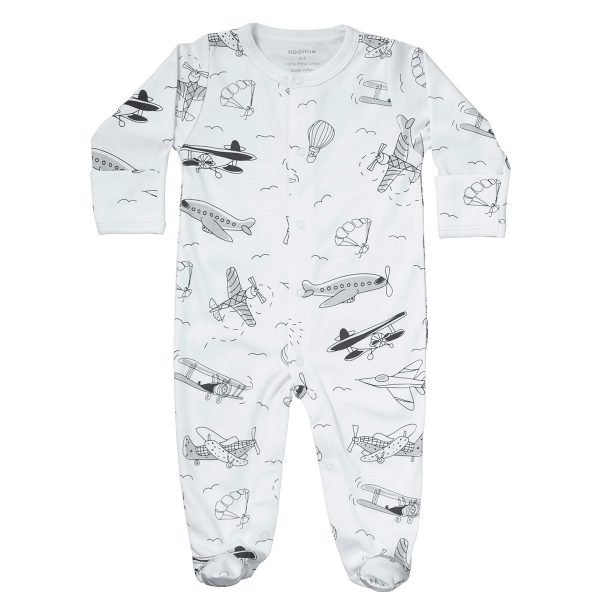 Baby Noomie Snap Footie – Airplanes