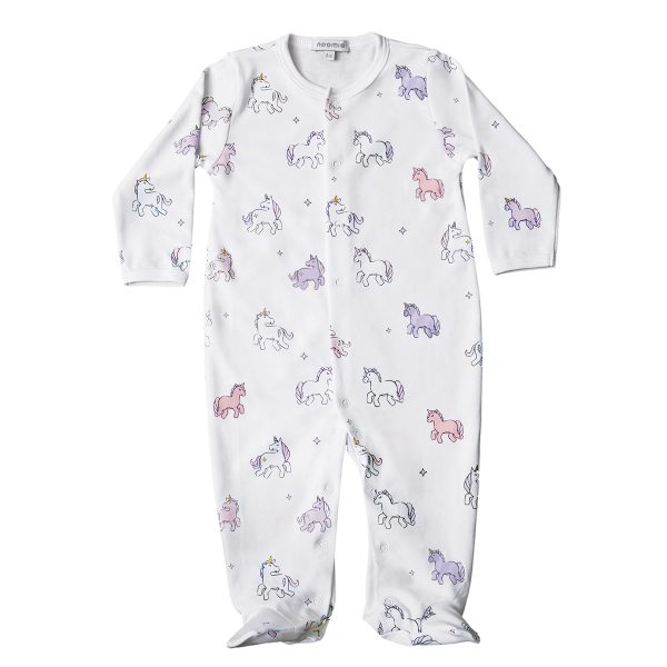 Baby Noomie Snap Footie- Unicorn