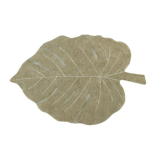 Lorena Canals Monstera Rug Olive