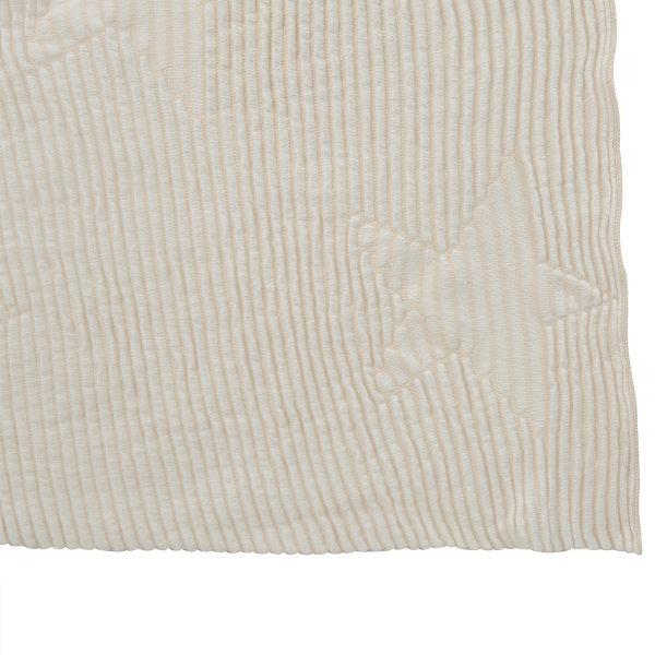 Lorena Canals Hippy Stars Knitted Baby Blanket Natural