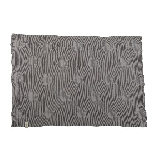 Lorena Canals Hippy Stars Knitted Baby Blanket Pearl Grey