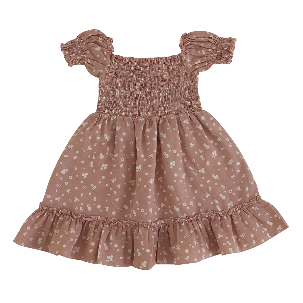 liilu Baby/Toddler/Big Kid Smocked Dress- Flower Petals