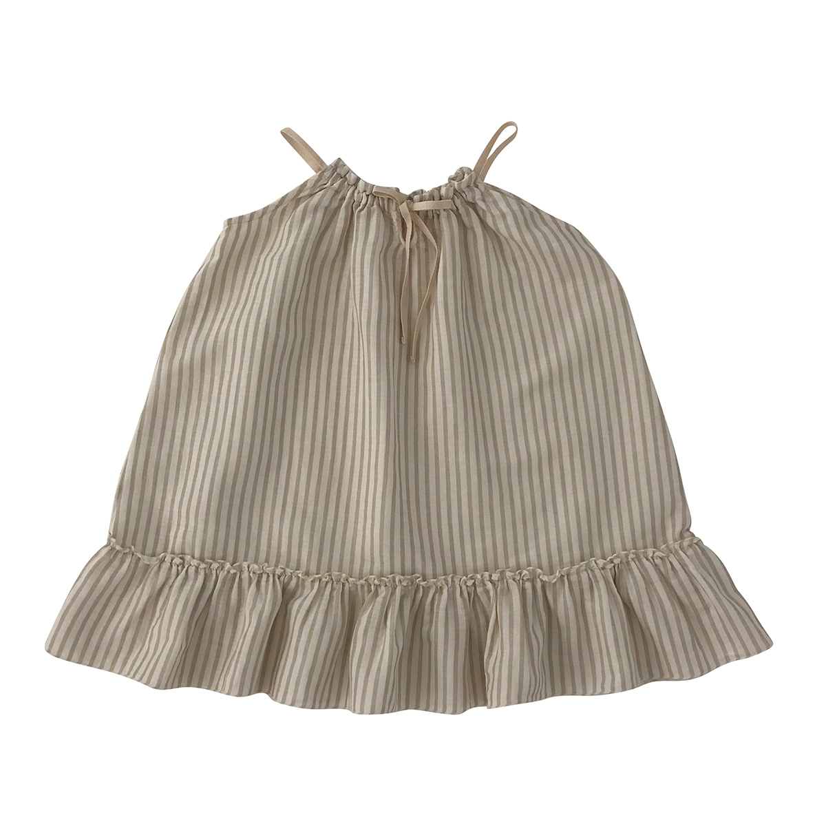liilu Toddler/Big Kid Cara Dress- Sandy Stripes