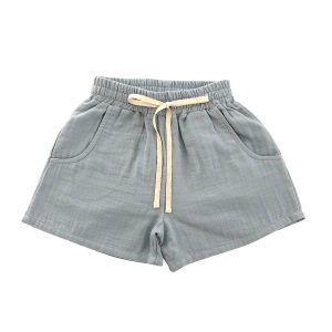 liilu Baby/ Toddler/ Big Kid Tudor Shorts- Dusty Blue