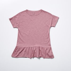 HART + LAND Organic Cotton Basic Peplum Girl's Tee