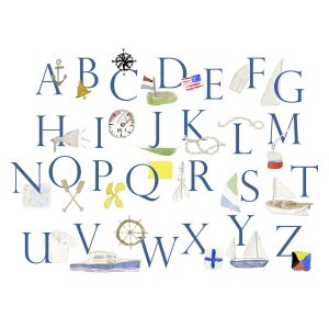 Peeps Paper Products Nautical Alphabet Print