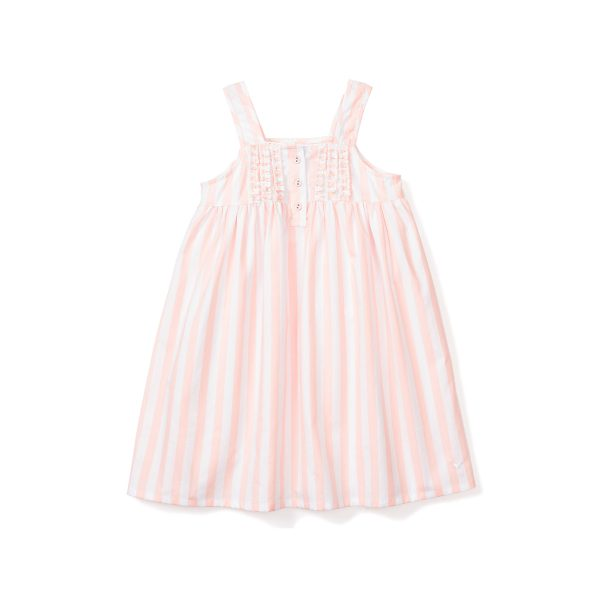 Petite Plume Coral Modern Striped Charlotte Nightgown