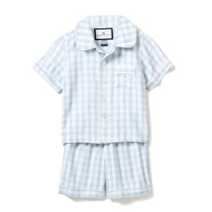 Petite Plume Blue Gingham Short Set