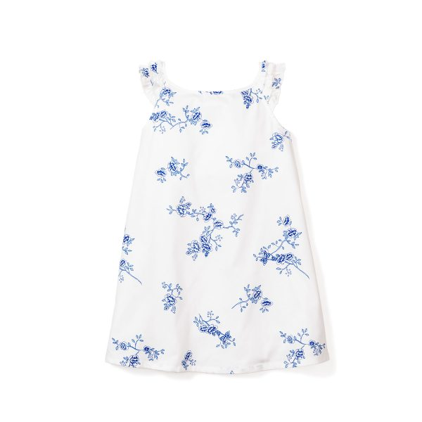 Petite Plume Indigo Floral Amelie Nightgown