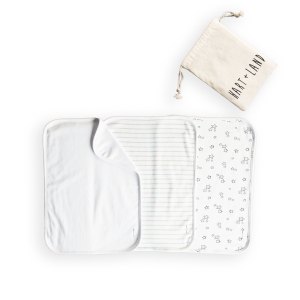 hart + land organic cotton burp cloths