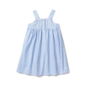 Petite Plume French Blue Seersucker Charlotte Nightgown