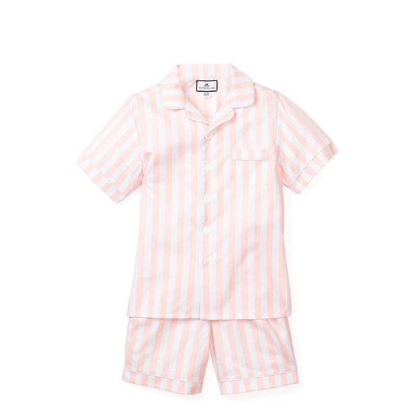 Petite Plume Coral Modern Striped Classic Short Set