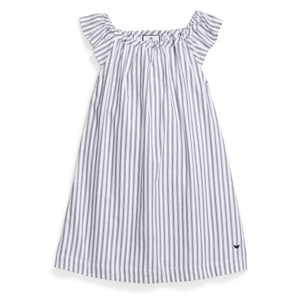 Petite Plume Navy French Ticking Isabelle Nightgown