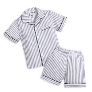 Petite Plume Navy French Ticking Short Set