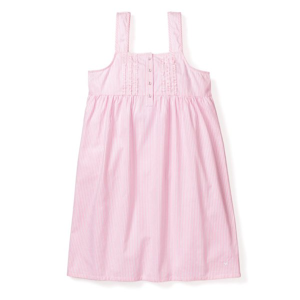 Petite Plume Pink Searsucker Charlotte Nightgown