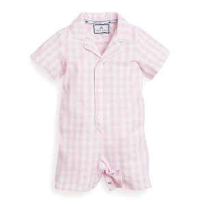 Petite Plume Kids Pink Gingham Romper- Front