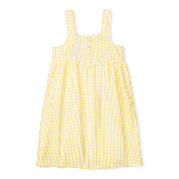 Petite Plume Yellow Gingham Charlotte Nightgown