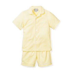 Petite Plume Kids Yellow Gingham Short Set