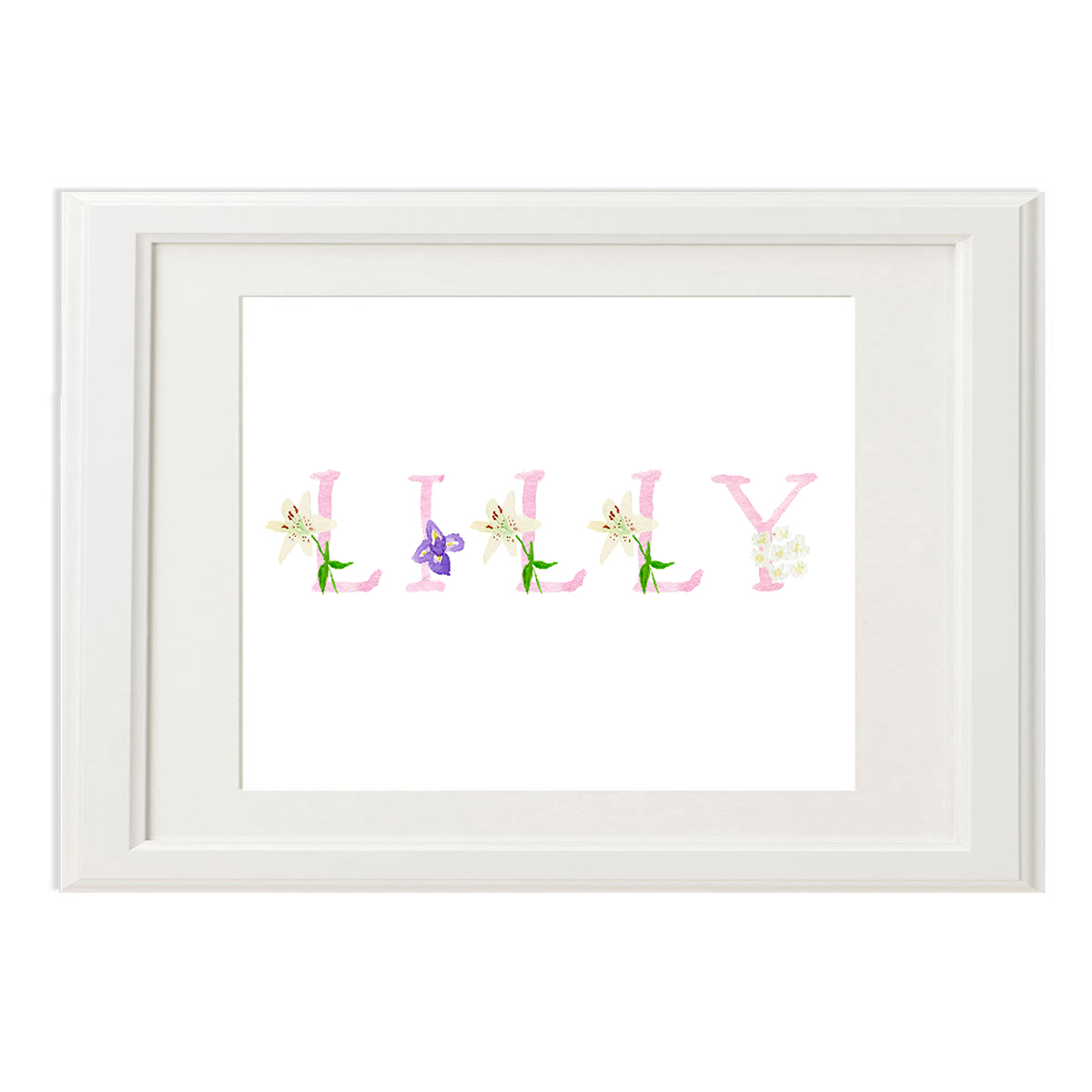 Peeps Paper Products Custom Floral Name Print