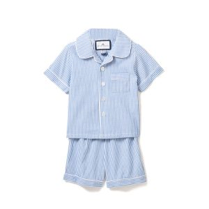 Petite Plume Kids French Blue Seersucker Pajama Short Set