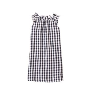 Petite Plume Kids Navy Gingham Amelie Nightgown