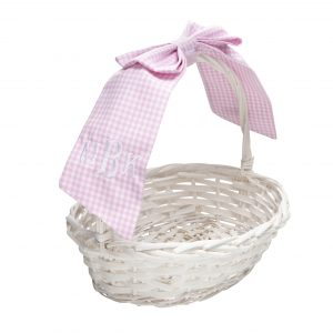 The Bow Next Door Pink Gingham Bow and Basket