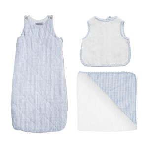 Louelle Blue Gingham Gift Set