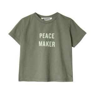 Go Gently Nation Toddler/Big Kid Peace Maker T-Shirt Thyme SS20